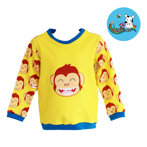 Monkey Panel Sweatshirt