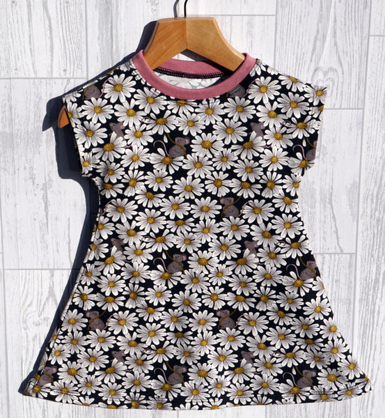 Daisy and Mouse Jersey T-Shirt Dress