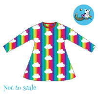Bumba Dress - Rainbow Clouds