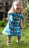 Blue Rainbow T-Shirt Dress