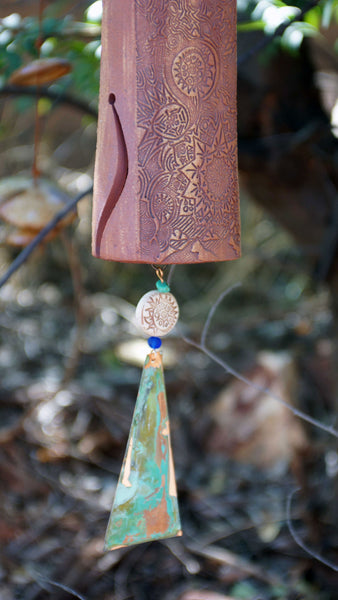 Bereavement Gift Wind Chime with Bird Sculpture
