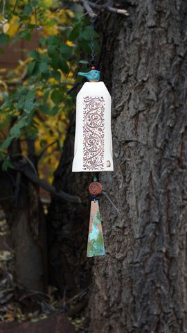 Ceramic Wind Chimes Rustic Garden Decor - EarthWind Stoneware