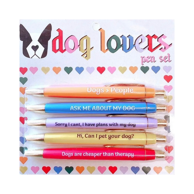 Dog Lovers Set of 5 Pens