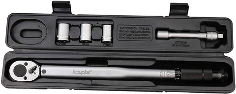 1/2-Inch Drive Click Torque Wrench - 6PCS SET (10-150 ft.-lb. / 13.6-203.5 Nm)- By Kauplus