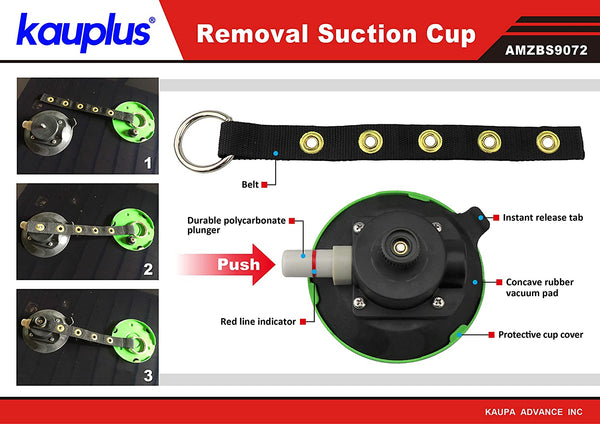 Kauplus 5 inch Suction Cup Dent Puller 120mm Dia Vacuum Mounting Suction Cup (22 Lbs). Dent Remover, Lifter for Glass, Mirror ETC!