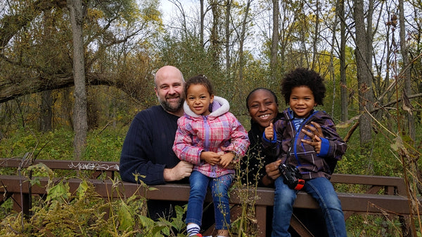 Yemi, Paul, Lola and Paul Jr. enjoying nature at Short Hills Provincial Park in Thorold, Ontario.