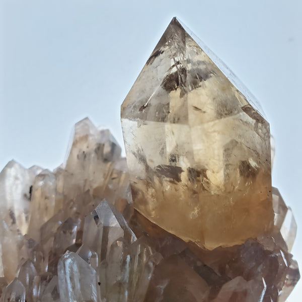 325 g Huge Self-Standing Kundalini Quartz Citrine, Democratic Republic of Congo, Lwena, Congo Citrine