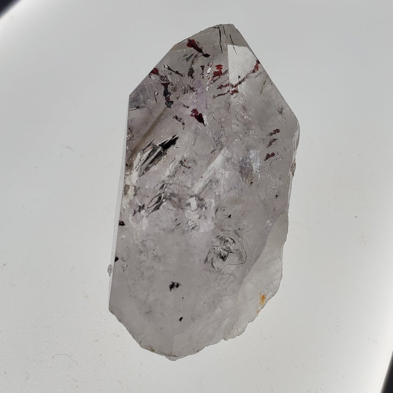 33 g Brandberg Quartz, Pure Bright Lavender Crystal With Deep Harlequins, From Namibia