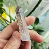 17.96 g Lilac Hued Brandberg Quartz With Lively Mobile Enhydro, From Namibia
