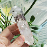 80.32g Brandberg Quartz, Double Termination, Twinned Crystal, Mobile Enhydro, From Namibia