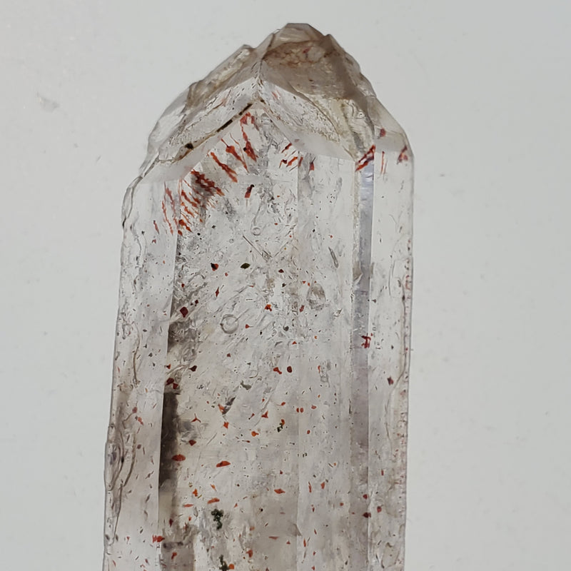 18.6 g Brandberg Quartz With Mobile Enhydro and Harlequins From Namibia