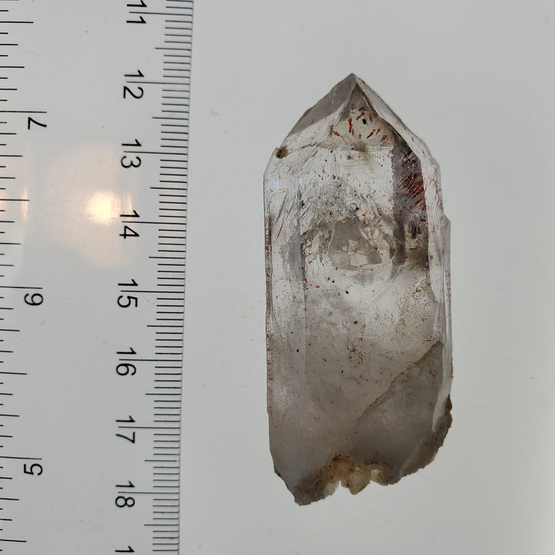 36.1 g Brandberg Quartz With Beautiful Harlequins and Mobile Enhydro From Namibia