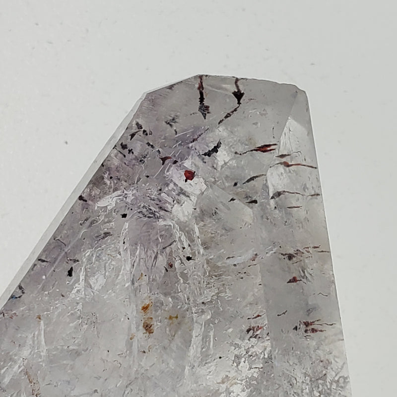 28.14 g Brandberg Quartz With Large Mobile Enhydro and Gorgeous Harlequins From Namibia
