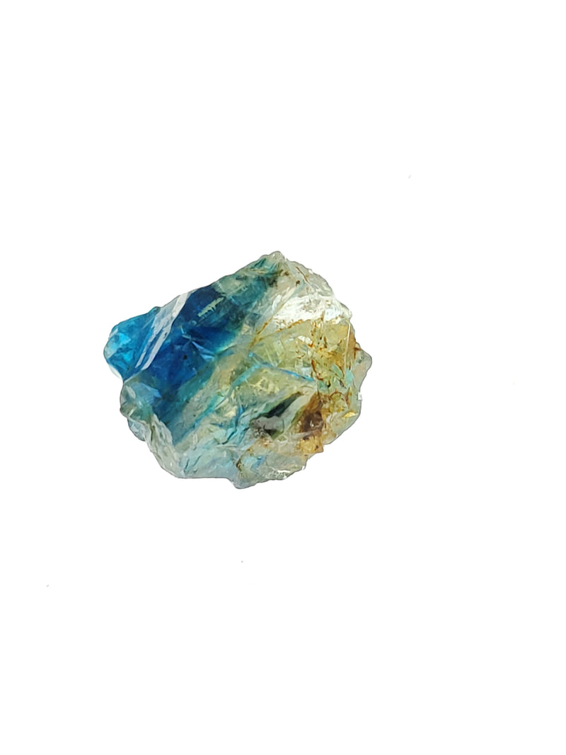Rare Euclase Smoky Yellow/ Deep Blue Crystal, 3.4 carats, Lost Hope Mine, Karoi, Zimbabwe, Blue Euclase, Stone of Clarity and Strength, Rare Mineral