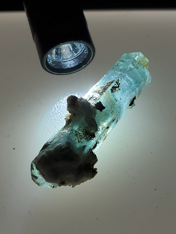 8 g Erongo Aquamarine With Natural Quartz Growths, From Erongo Region, Namibia