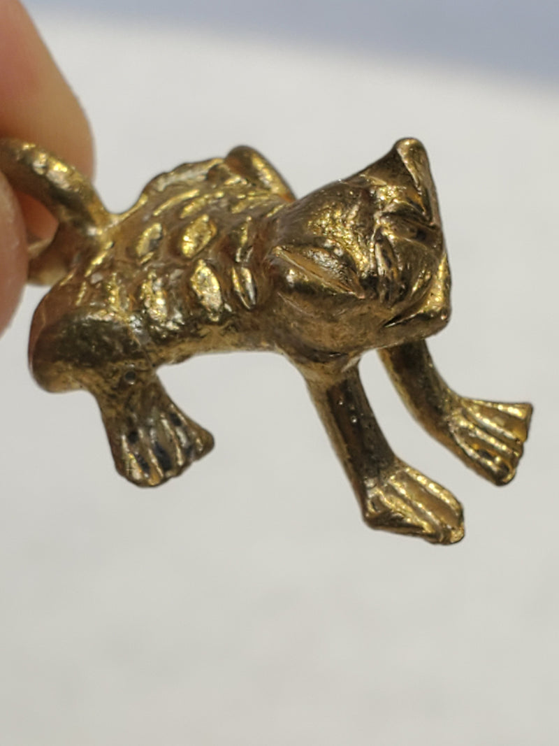 Five Baule Bronze Frog Pendants, Lost Wax Pendants from Ivory Coast