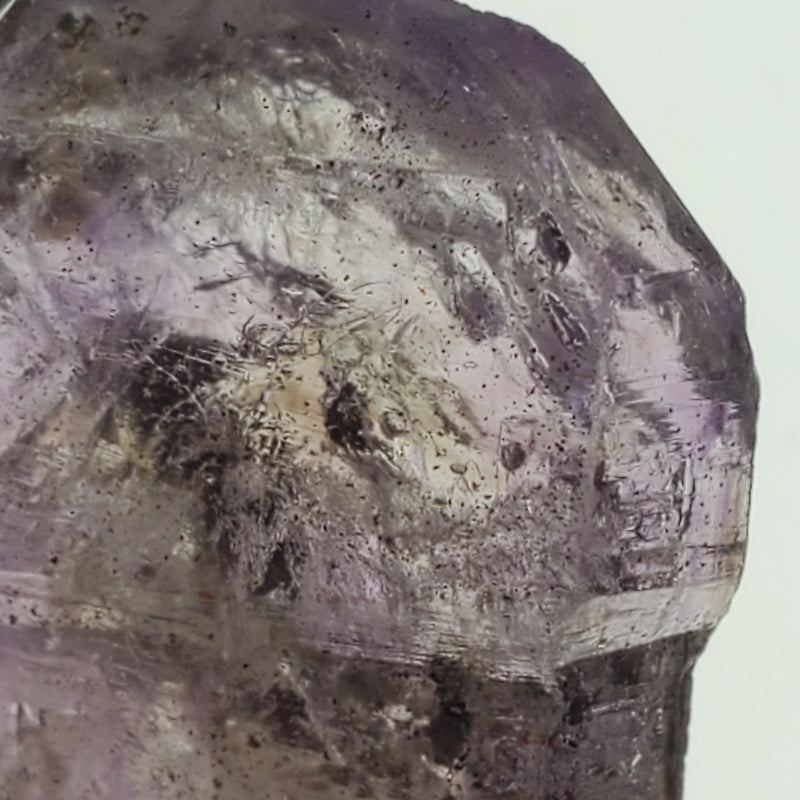 "2.4"" Double Terminated, Hematite Flecked, Shangaan Amethyst Scepter From Zimbabwe"