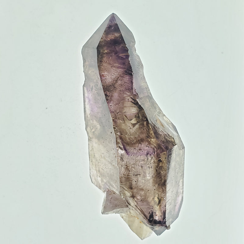 "2.5"" Terminated, Harlequinn Smokey mobile Enhydro Shangaan Amethyst Scepter From Zimbabwe"