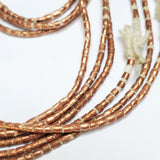 Copper Bead String, Set of 3 Strings, Ethiopian Beads, Handmade African Jewelry