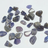 2 Pack of Tanzanite Tumbled stones, Roughly 2 grams in total, Healing Crystals from Merelani Hills, Tanzania