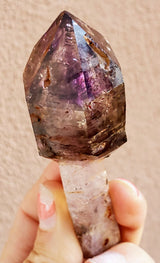 "3.9"" Terminated Mobile Enhydro Shangann Amethyst Scepter from Zimbabwe"