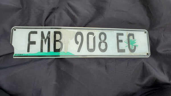 Vintage African License Plate from South Africa, Eastern Cape Province