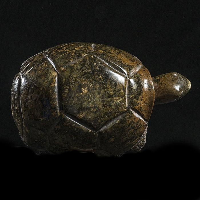 Serpentine Turtle, 22cm, Shona Sculpture by Comfort Andrea, Zimbabwe