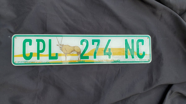 Vintage License Plate from South Africa, Eastern Cape Province