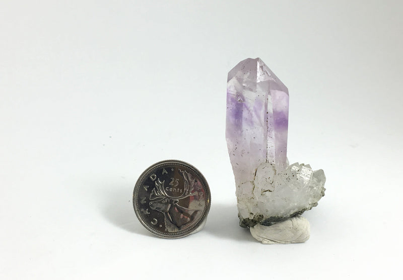 31g Extra clear Brandberg Quartz with Amethyst Inclusions Cluster From Namibia