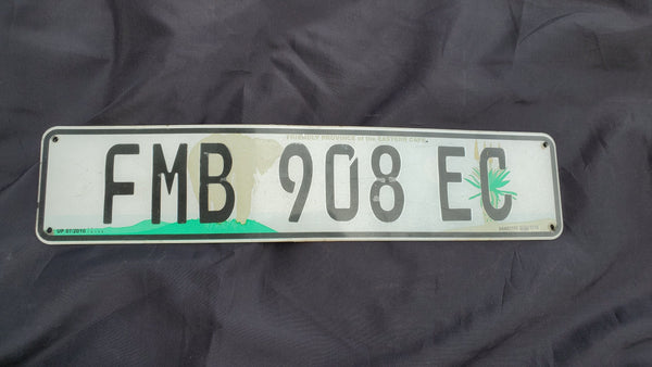 Vintage African License Plate from South Africa, Northern Cape Province