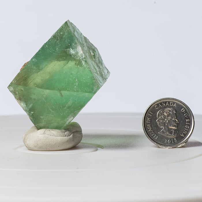 Fluorite Octahedron, Riemvasmaak, Northern Cape, South Africa, 6.4 cm FR006