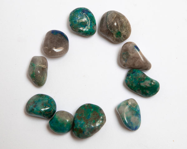 10 Pack of Quantum Quattro Tumbled stones, 70 grams in total, Healing Crystals from Kunene, Namibia