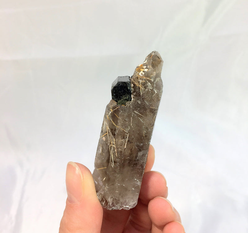 Smoky Quartz With Aegirine, Mount Malosa, Zomba, Malawi, Africa