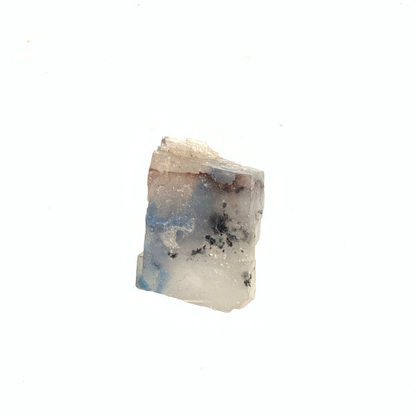 3.7g Calcite Crystal With Bright Blue Papagoite Inclusions