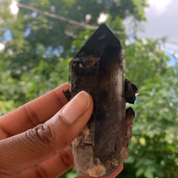 172g Smokey Quartz With Aegirine from Mulanje, Malawi, Africa