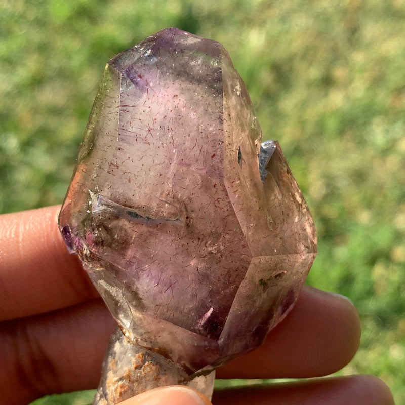 59g Smokey Quartz Light Purple Shangaan Amethyst Scepter From Zimbabwe