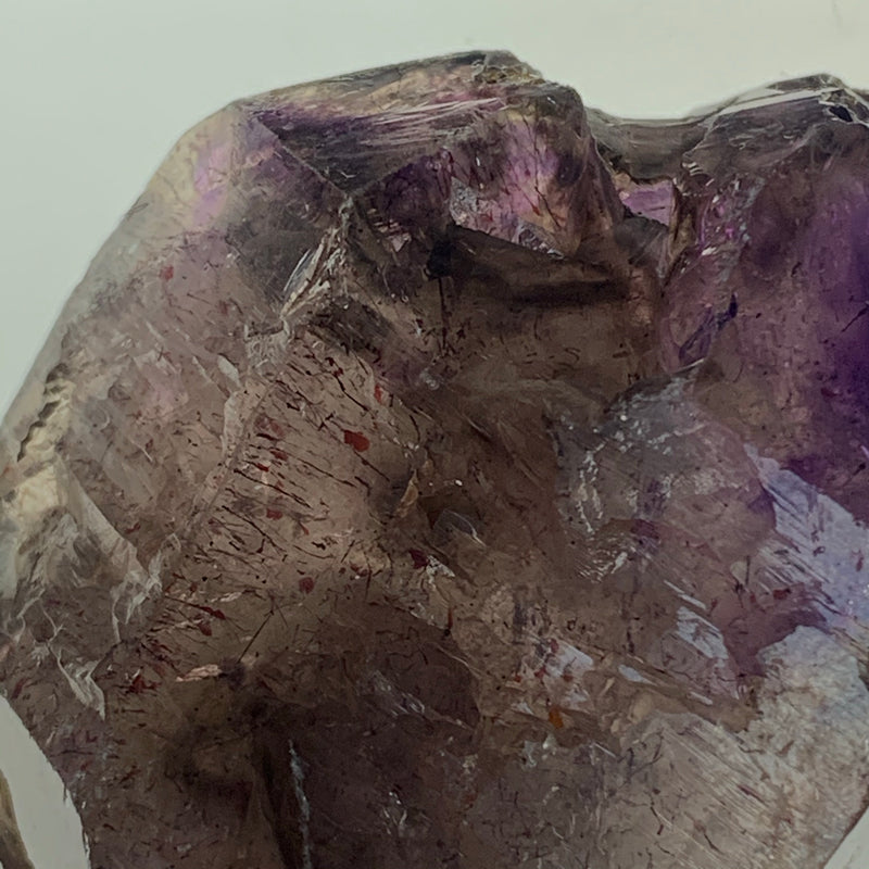 129.7g Smokey Quartz Shangaan Amethyst Crystal With Hematite From Zimbabwe