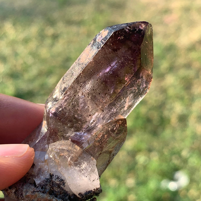 3 Point Shangaan Amethyst Cluster From Zimbabwe