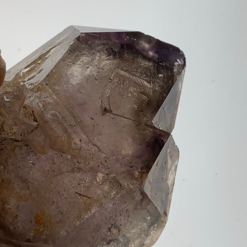 "2.6"" Shangaan Amethyst Double Terminated Scepter With Phantom from Zimbabwe"