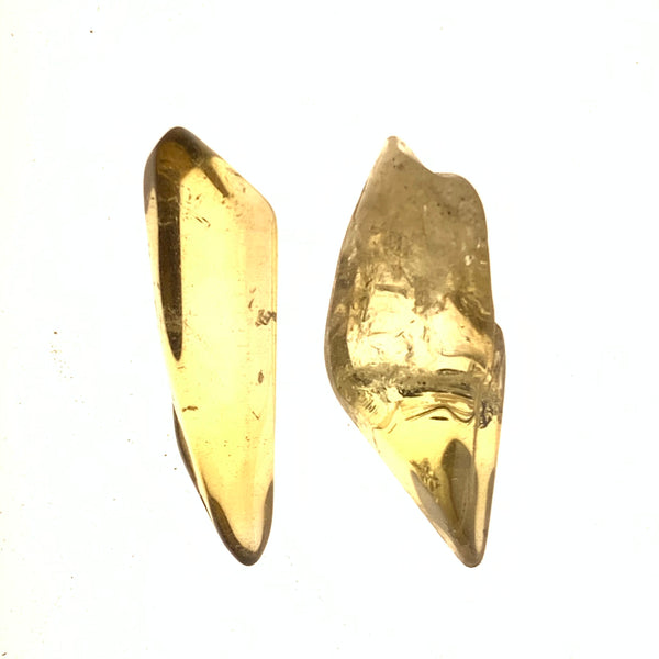 2 Pack Tumbled Citrine from Mansa, Zambia, Citrine Points