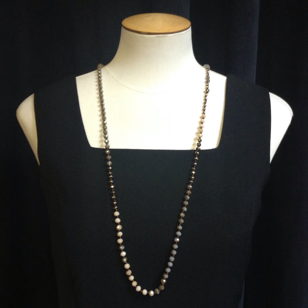 Tommy Bahama Mixed Beaded Long Necklace (Can be Knotted)