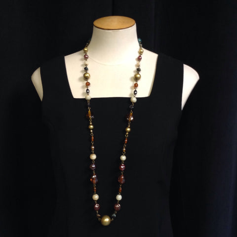 Express Bronze Mulit-Color Long Necklace