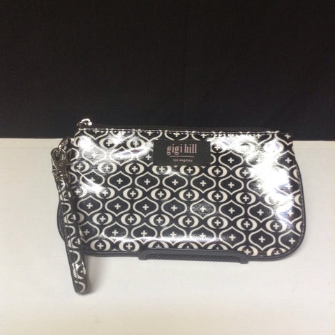 Gigi Hill Coated Canvas Black and White Print Wriistlet Wallet