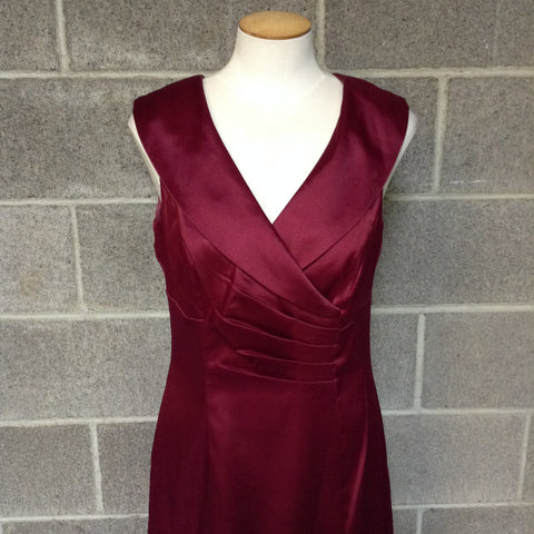 AB Studio Size 8 Red Sleeveless Dress