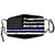 Washable Cloth Mask (B&W USA Flag + Blue Stripe)