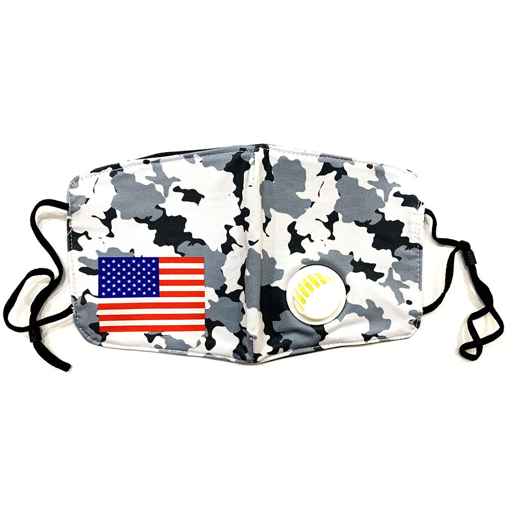 Washable Cloth Mask (USA Flag + B&W Camouflage)