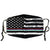 Washable Cloth Mask (B&W USA Flag + Red, Blue & Green Stripes)