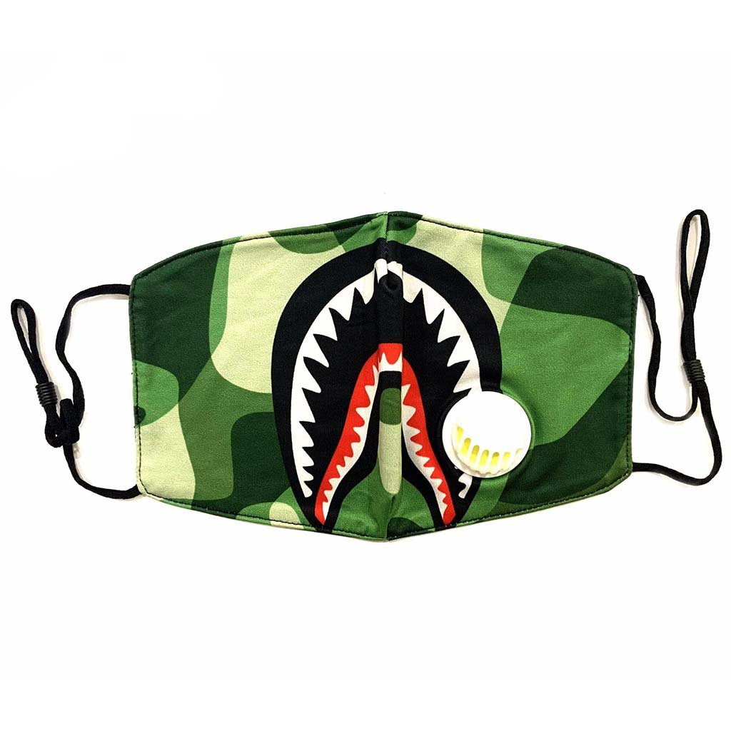 Washable Cloth Mask (Green Shark)