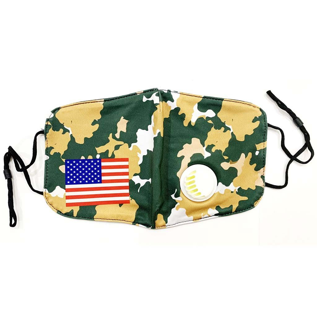 Washable Cloth Mask (USA Flag + Desert Camo)