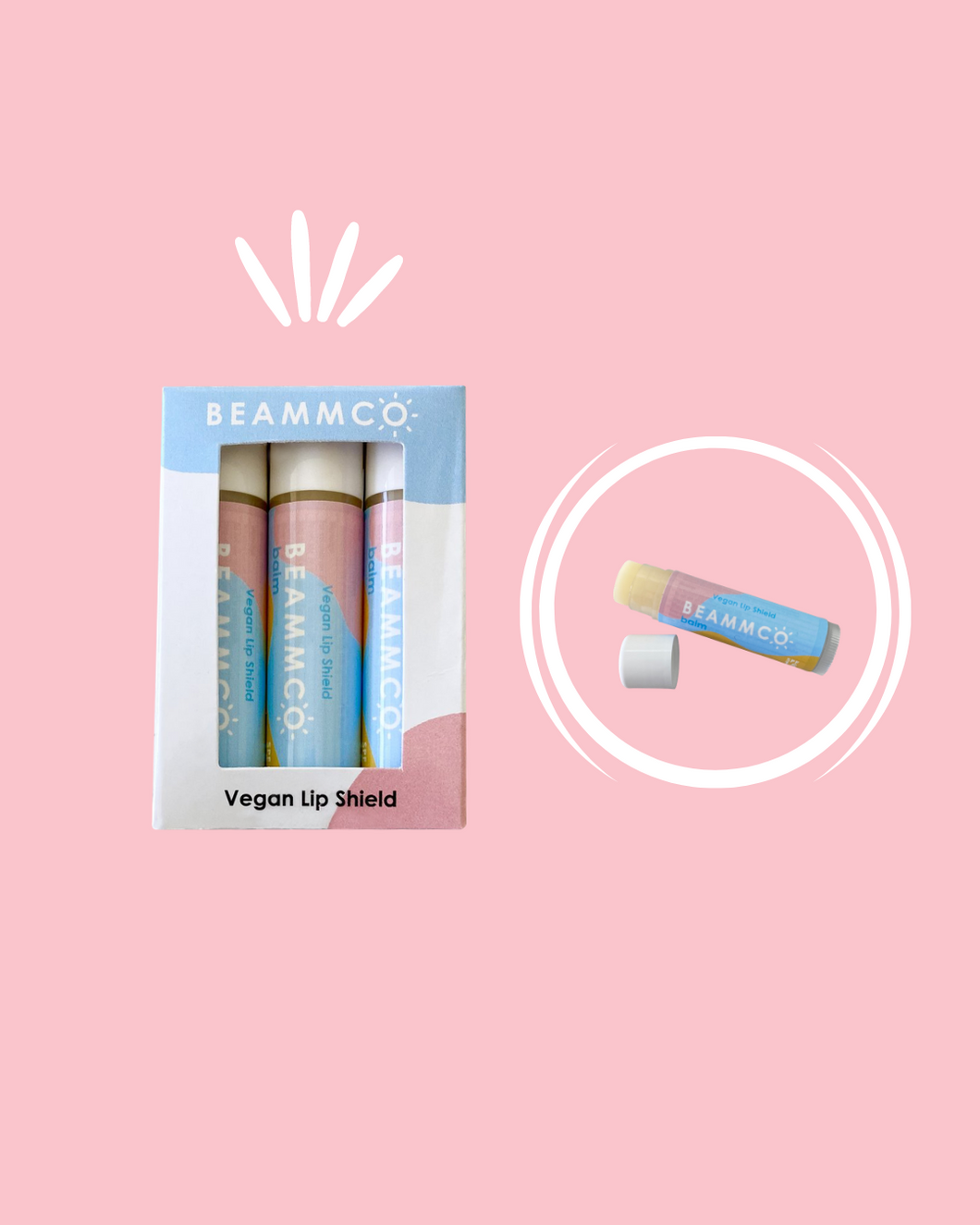 Beammco Balm: Vegan Lip Shield SPF 15 (3-Pack)
